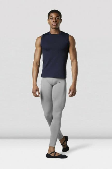 Bloch Mens Dance Fitness Sleeveless Fitted Muscle Top Vest Nylon Spandex MT011
